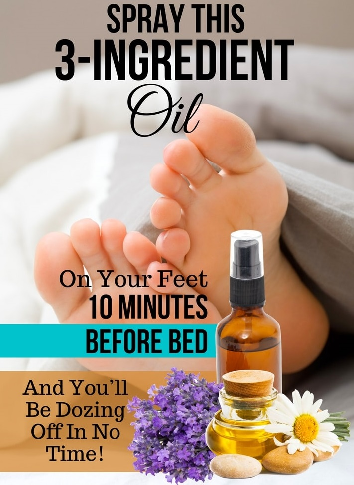 Spray This 3 Ingredient Oil On Your Feet 10 Minutes Before